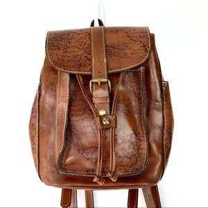 Patricia Nash Aberdeen Signature  Map  Backpack